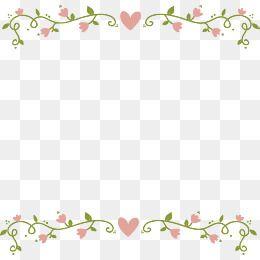 Love Pink Flower Border, Vector Png, Pink Flowers, Love PNG.