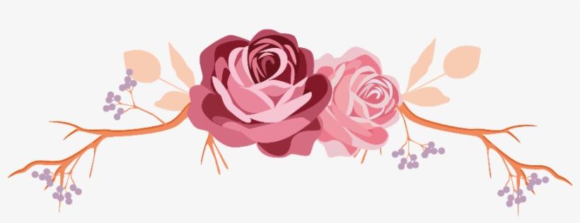 Flowers Rose Roses Leaves Branch Divider Border Frame.