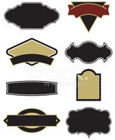 Set of Vector Elements for Logos, Labels, Stock Vector.