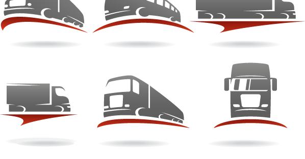 Vectores con logos de transporte, barcos, camiones, aviones.