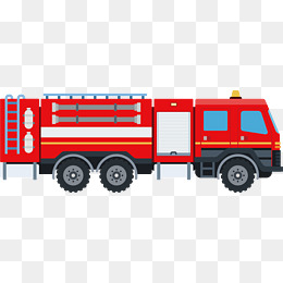 Red Fire Truck Vector, Truck Clipart, Ha #35871.