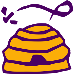 Beehive vectorized clipart, cliparts of Beehive vectorized.