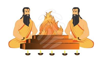 Hindu saint clipart.