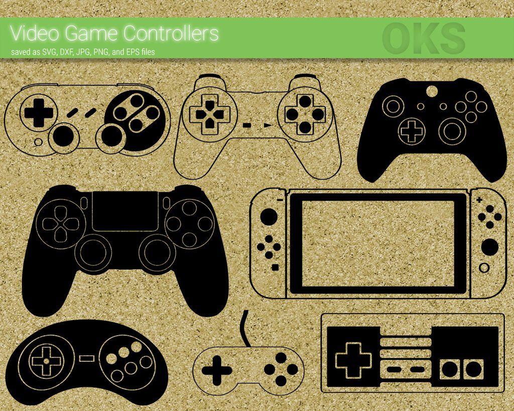 Video game controller svg, dxf, vector, eps, clipart, cricut.