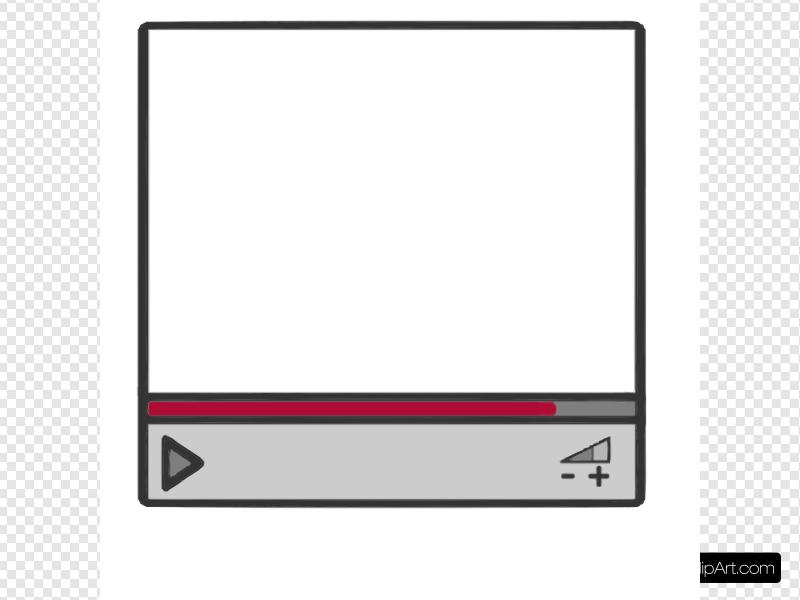 Streaming Video Clip art, Icon and SVG.