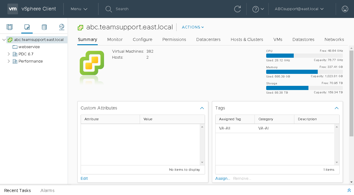 Controlling Backup Infrastructure with vSphere Web Client.