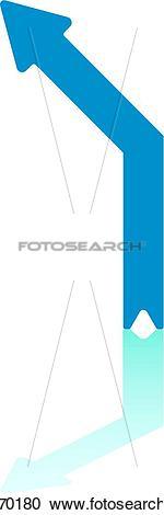 Clipart of Veer Lerft Arrow k18770180.