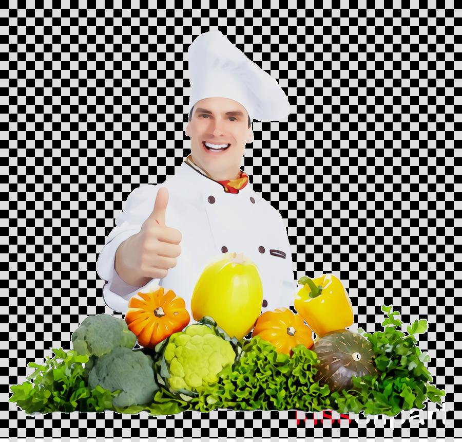 cook chef natural foods food vegetarian food clipart.