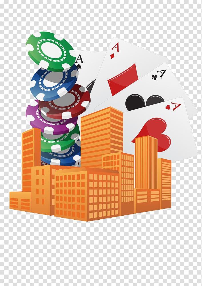 Las Vegas Casino Illustration, Property chips transparent.
