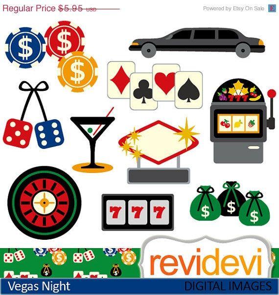 Las Vegas casino clipart sale, commercial use, digital.