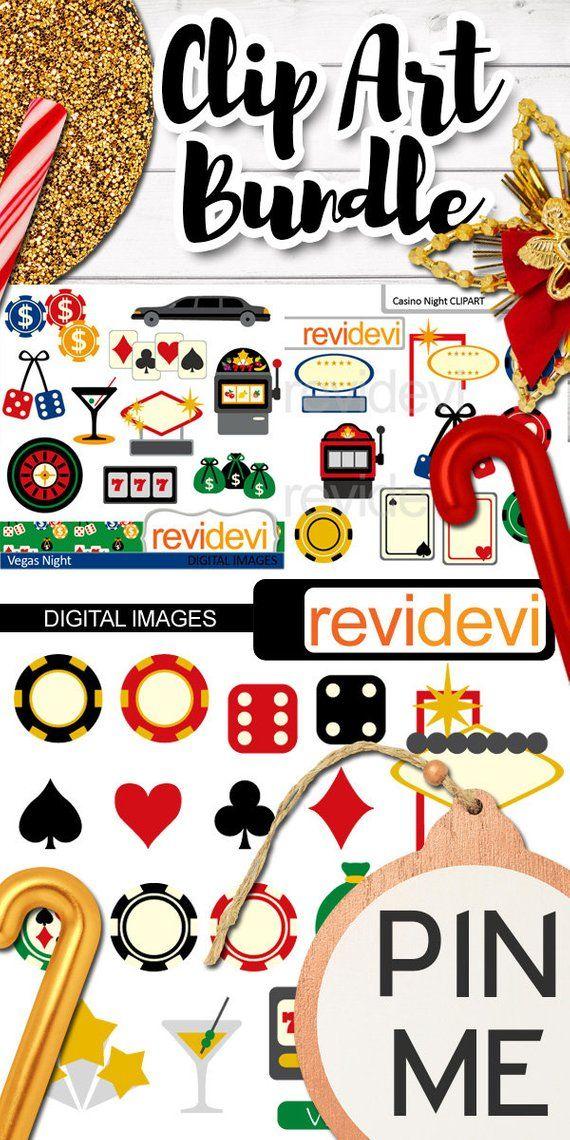 Viva Las Vegas clipart sale / casino, gambling, poker play.