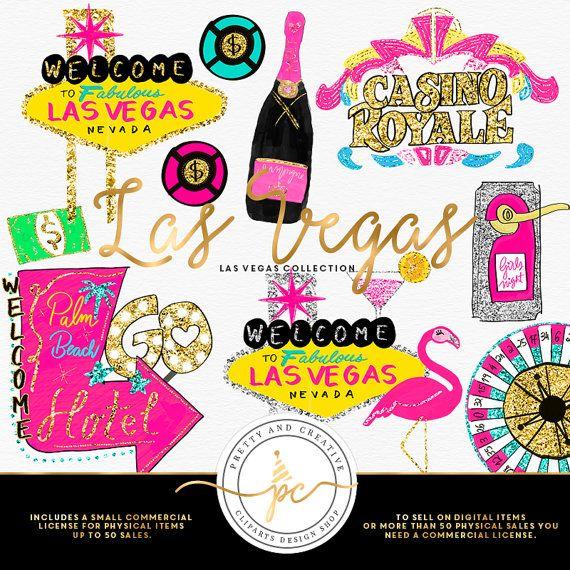Las Vegas Clipart Glitter Set Clip Art Vegas by.