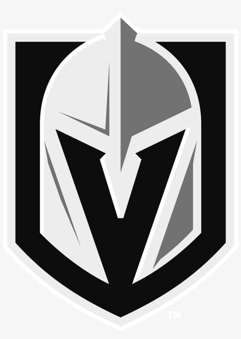 Vegas Golden Knights Logo Black & White Transparent.