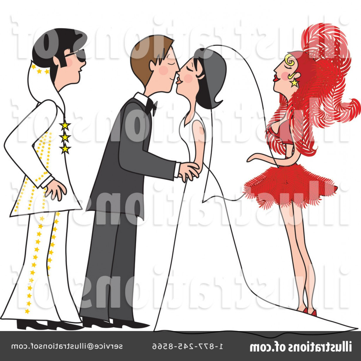 Royalty Free Wedding Clipart Illustration.
