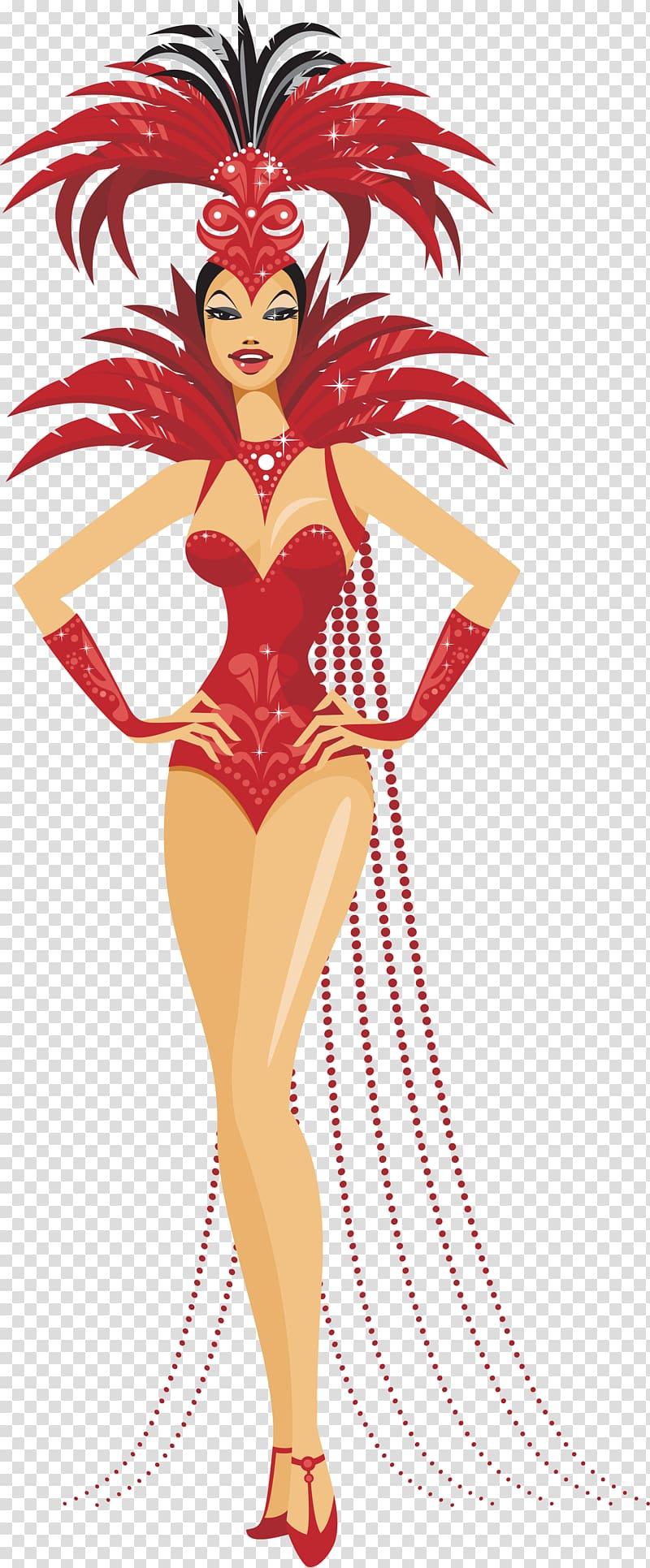 Moulin Rouge Las Vegas Showgirl Dance, girls transparent.