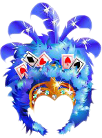 Vegas Showgirl Headdress Blue.