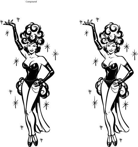Las vegas showgirls clip art clipart free download.