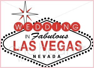 Vegas Wedding Clipart.