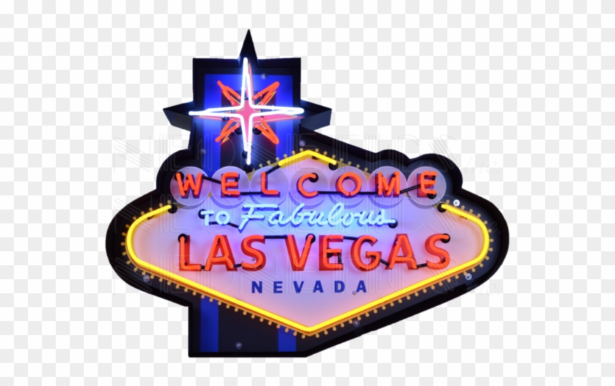 Welcome To Fabulous Las Vegas Neon Sign In Shaped Steel.