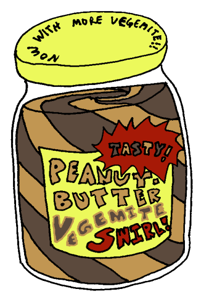 Letters from a broad: Peanut Butter vs. Vegemite.