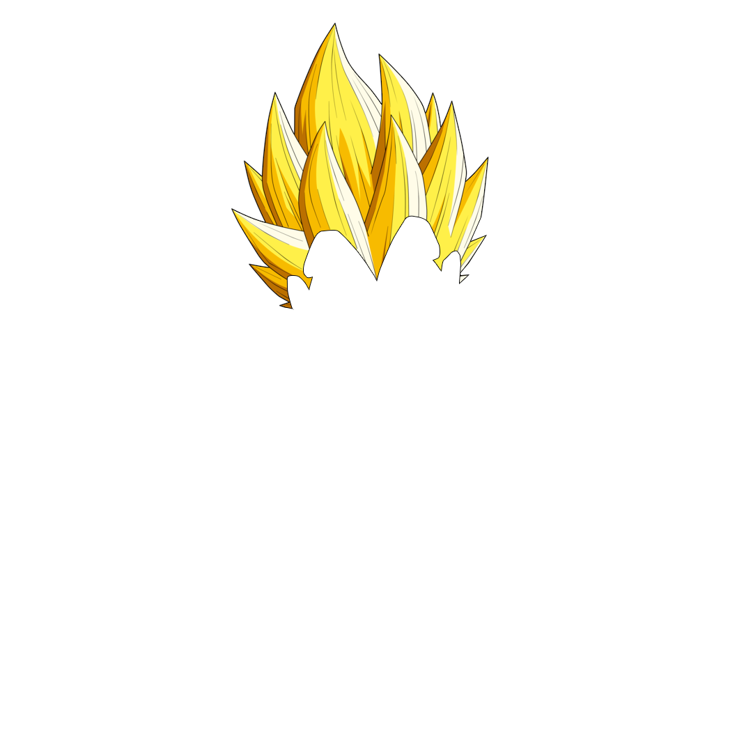 Vegeta hair png 3 » PNG Image.