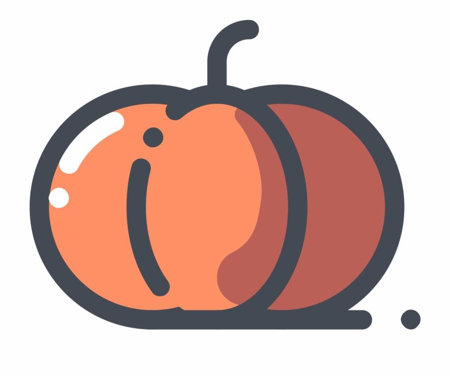 Pumpkin Vegetable Icon.