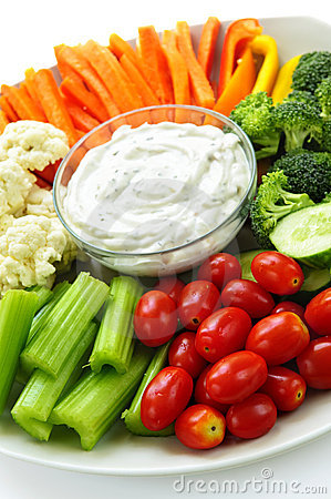 Vegetable And Dip Clipart.