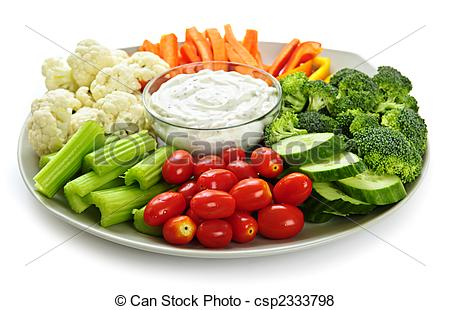 Pictures of Vegetables and dip.