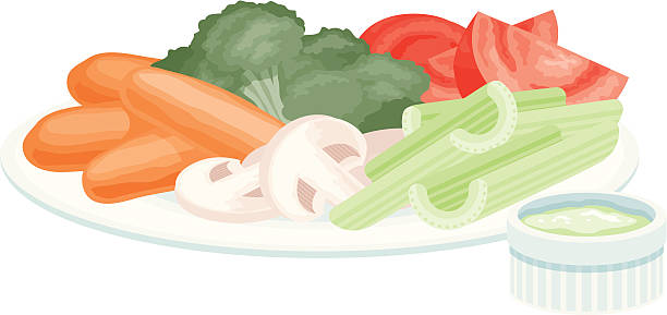 Vegetables And Dip Clip Art, Vector Images & Illustrations.