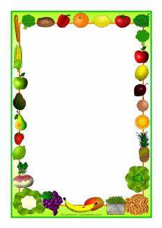 Fruit Border Clip Art.