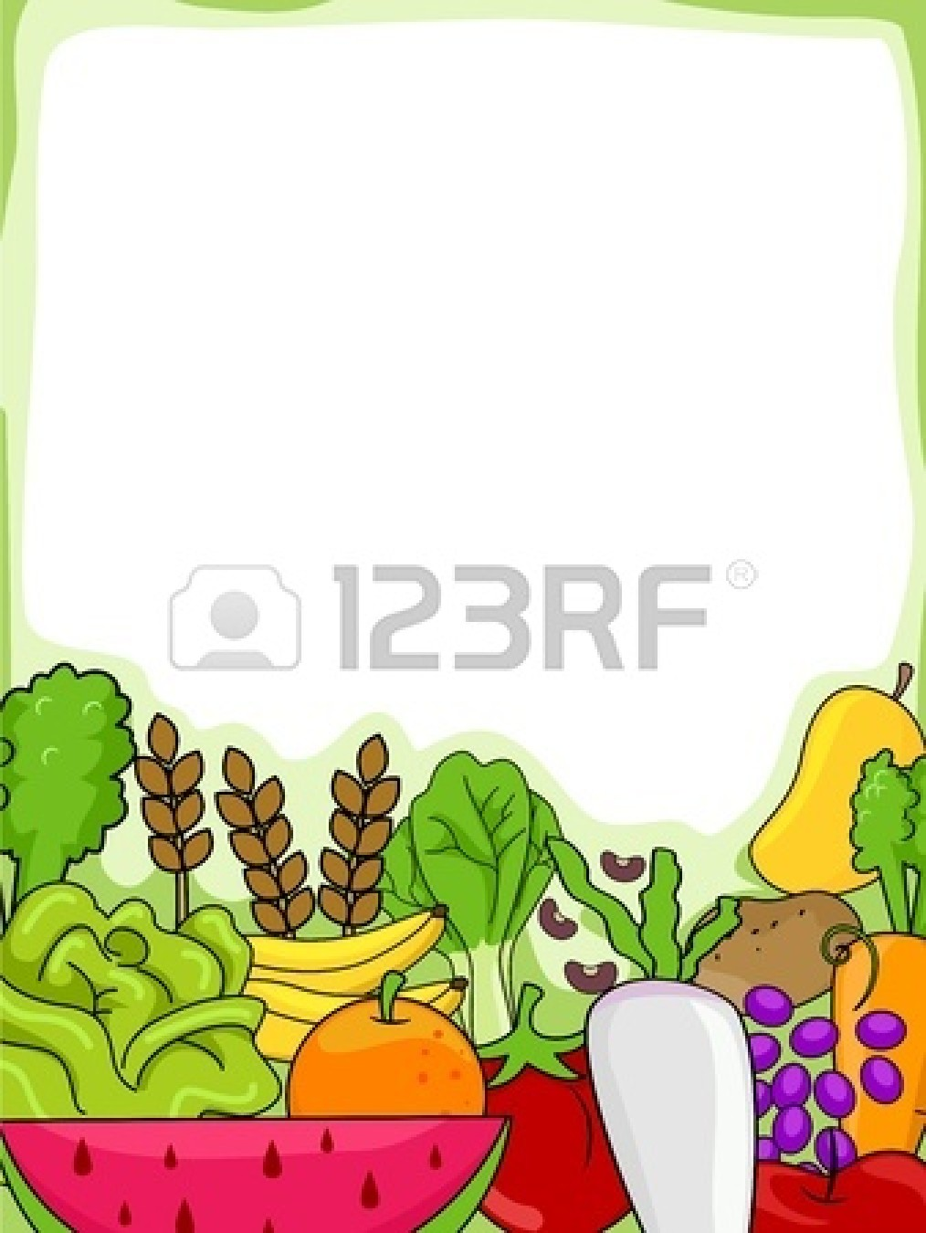 Fruit And Vegetable Border.