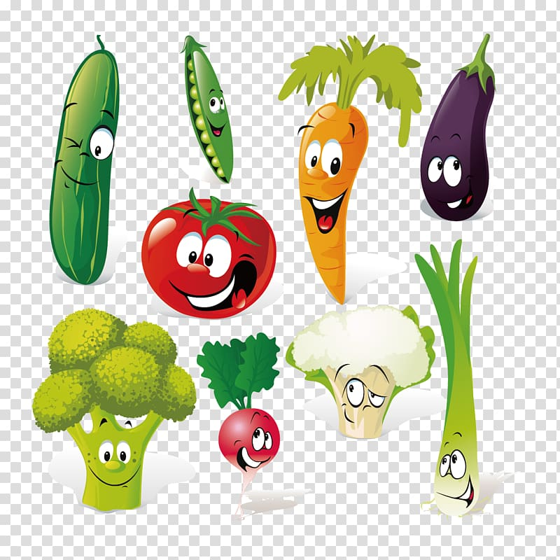 Vegetable Cartoon , Vegetables Creative People transparent.