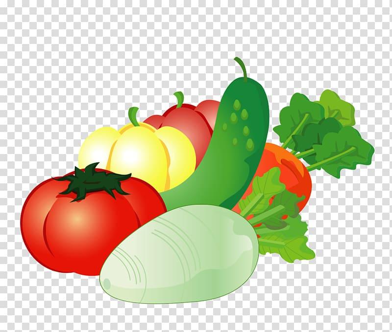 Vegetables illustration, Vegetable Auglis Cartoon, Cartoon.