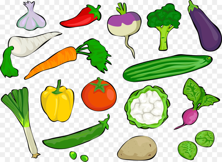 Vegetables Cartoon clipart.