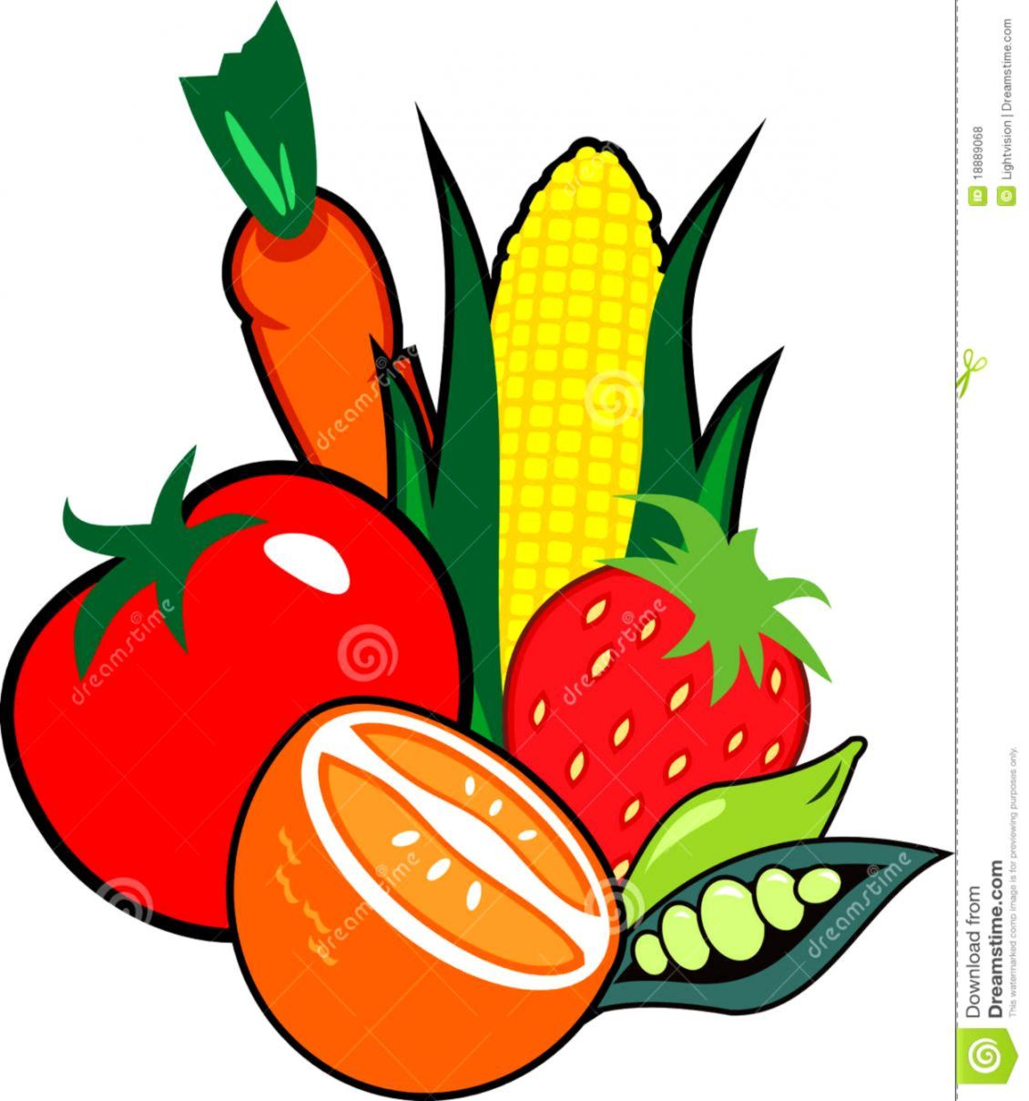Fruit And Vegetable Clip Art.