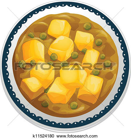 Clipart of Vegetarian curry k11509713.