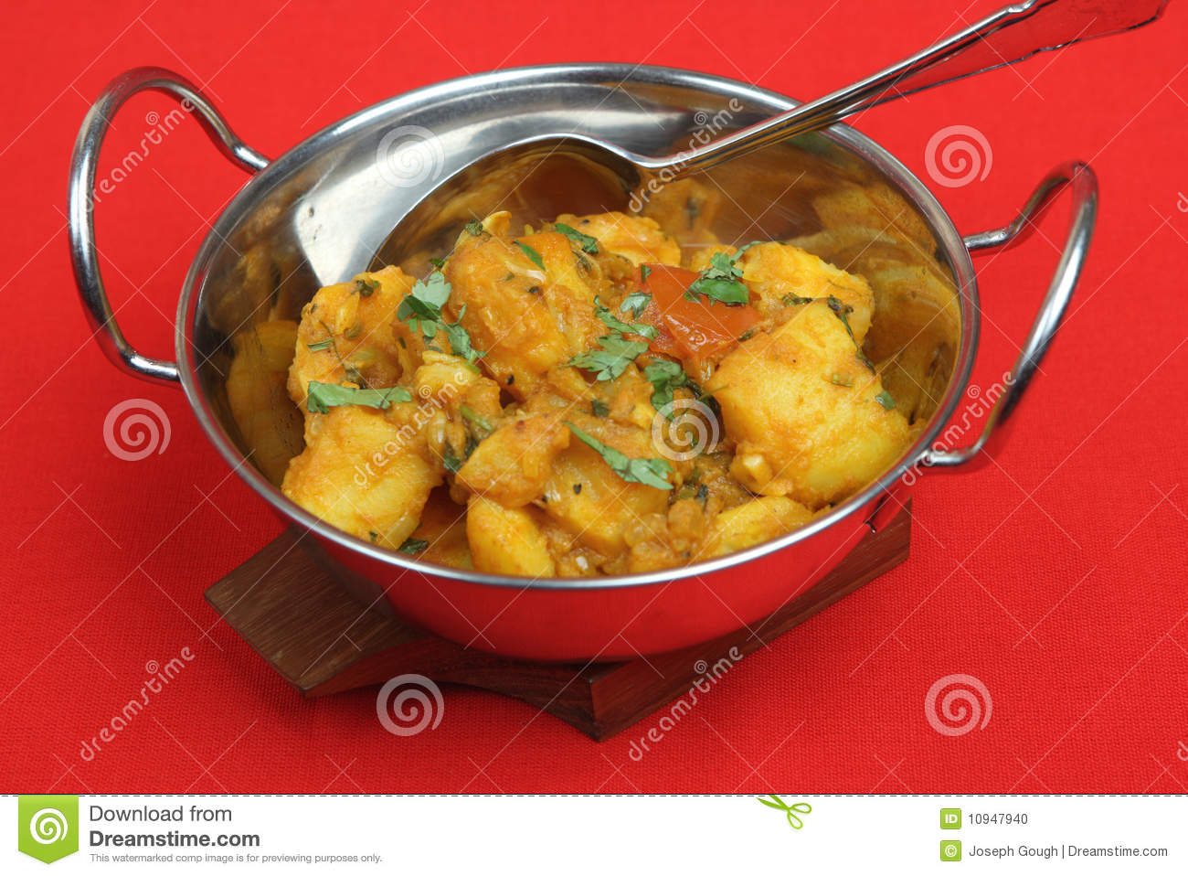 Indian Vegetable Curry Dish Stock Photo.