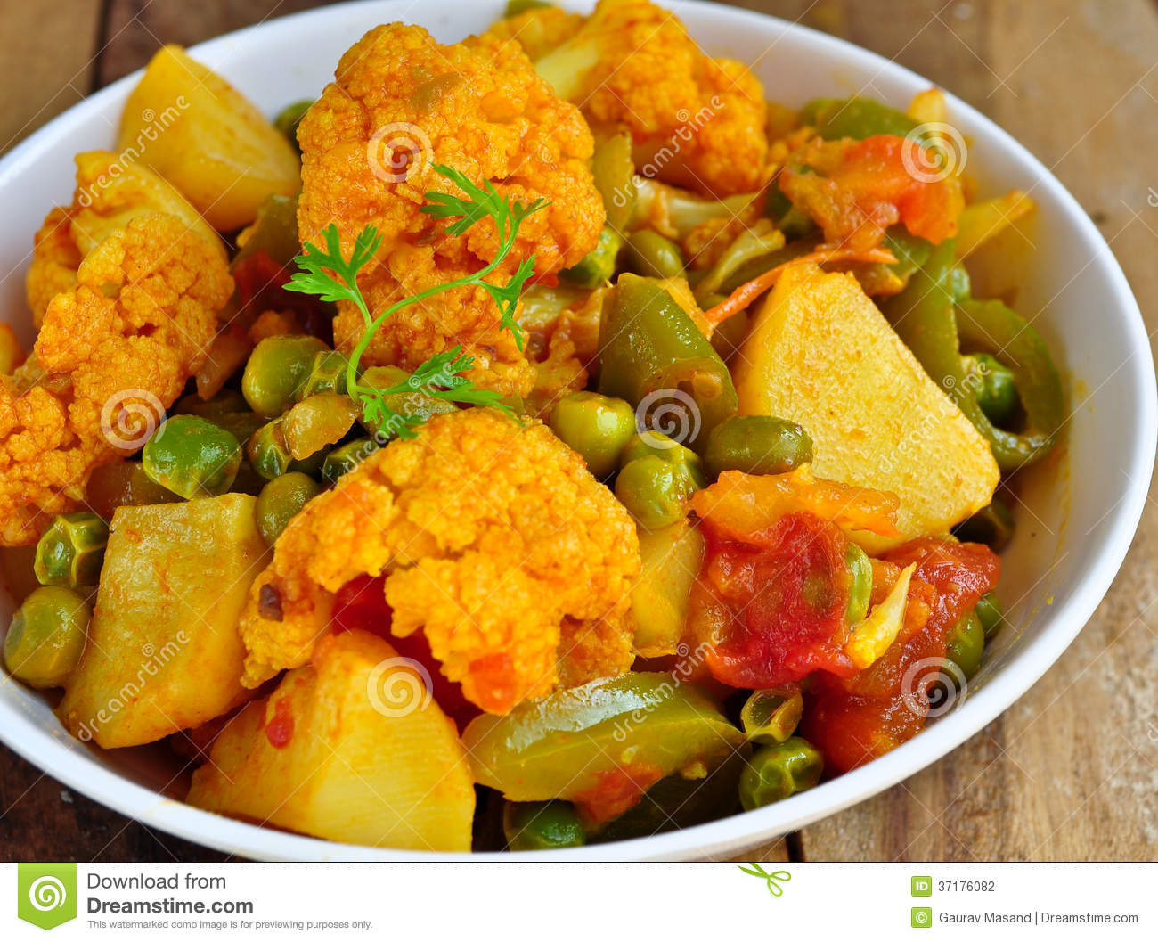 Mix Vegetable Curry Stock Photography.