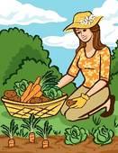 Vegetable Garden Clip Art.