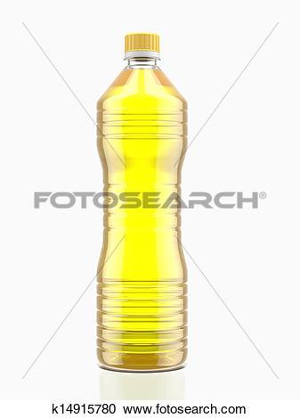 Stock Illustrations of Bottle of cooking oil k14915780.