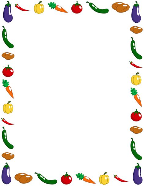 Vegetable page border. Free downloads at http://pageborders.org.
