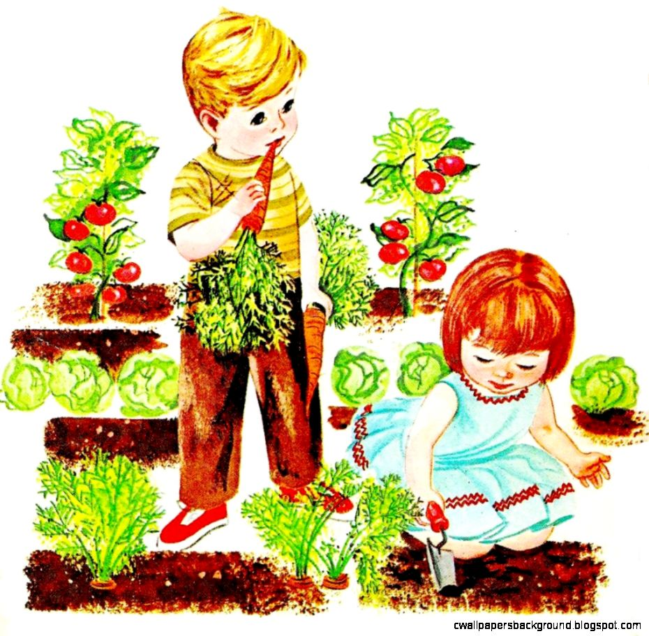 Vegetable Garden Rows Clipart.