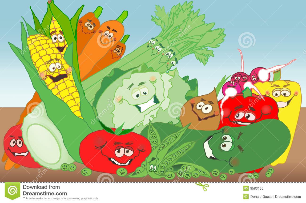 Vegetable Garden Background Clipart.