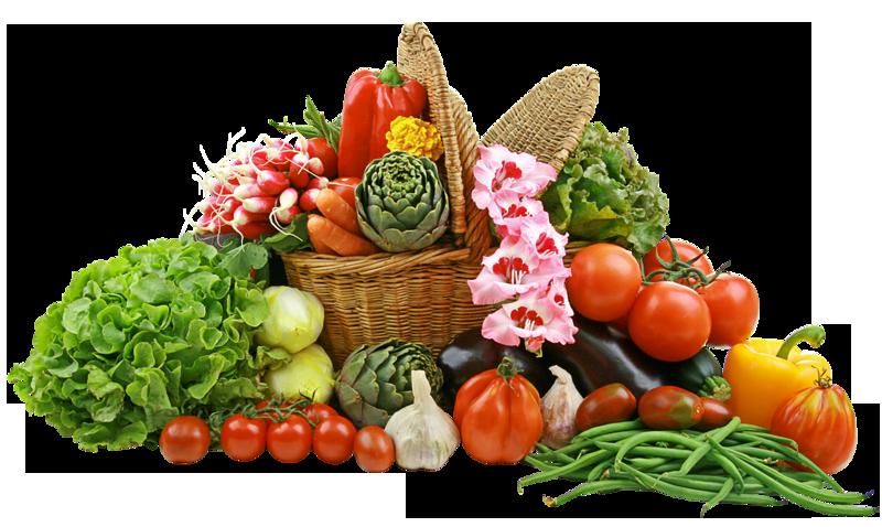 Vegetable Basket PNG Picture.