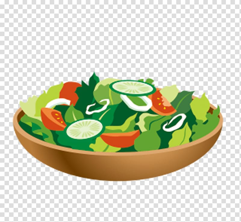 Taco salad Vegetable Flat design, vegetable salad.