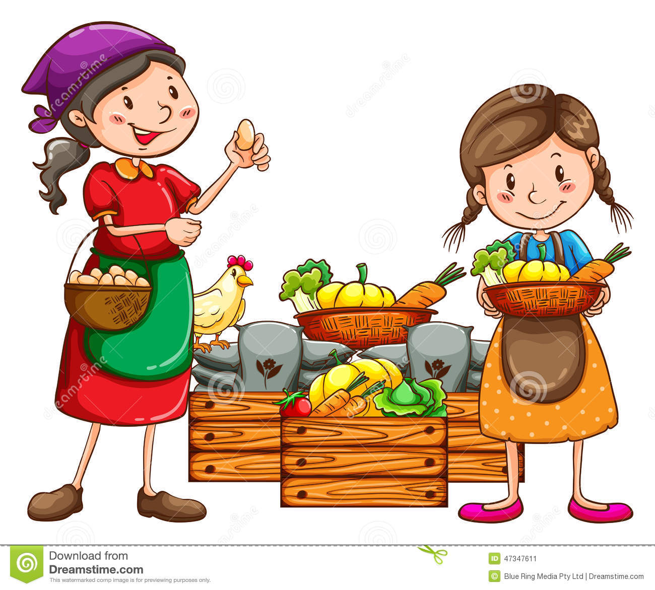 Vegetable vendor clipart 5 » Clipart Station.