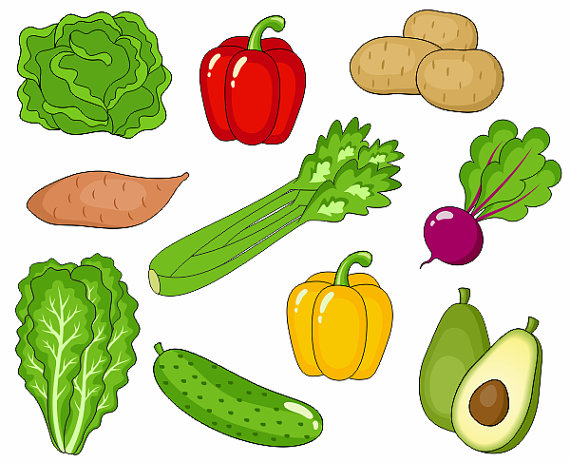 Vegetables clipart images.