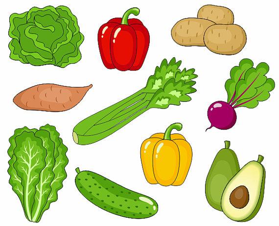 Vegetables clipart images.
