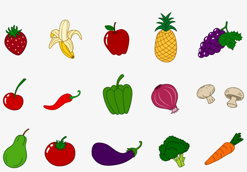 Fruits And Vegetables Clipart Png PNG Image.