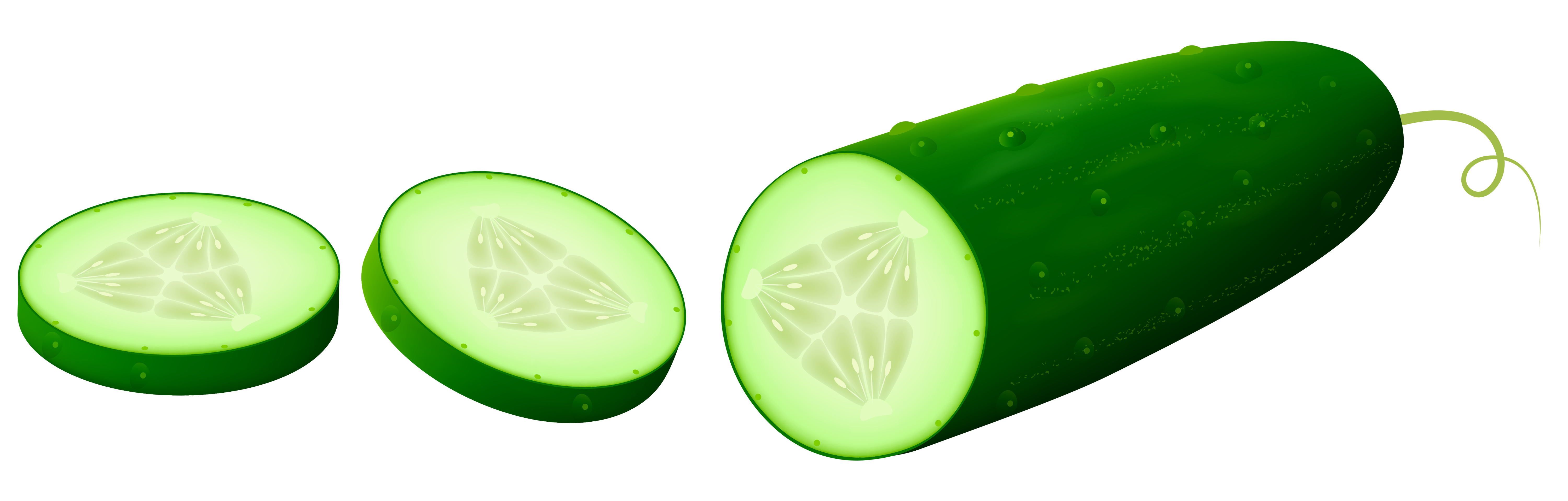 Transparent Sliced Cucamber PNG Clipart Picture.